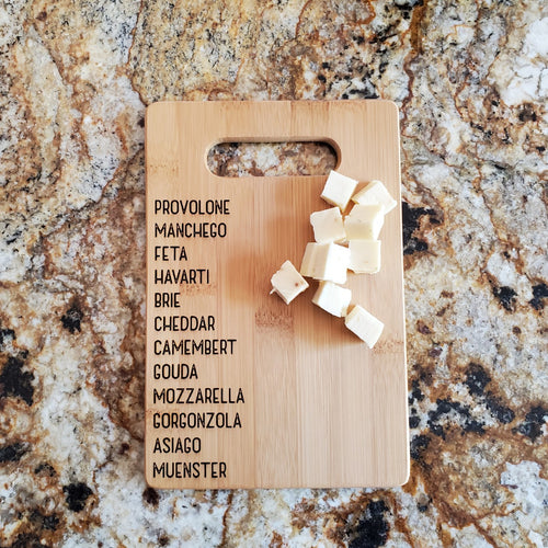 Cutting Board - Cheese List