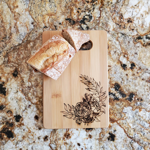 Cutting Board - Peonies