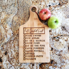 Cutting Board - Fall Bucket List