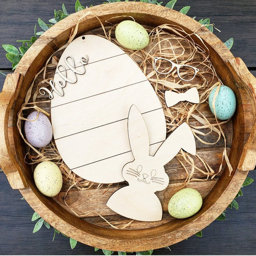 DIY Easter Bunny Sign