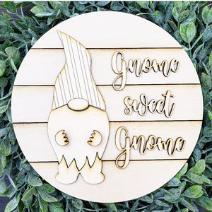 DIY Gnome Sweet Gnome Sign Set