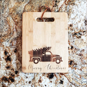 Christmas Truck Cutting Board