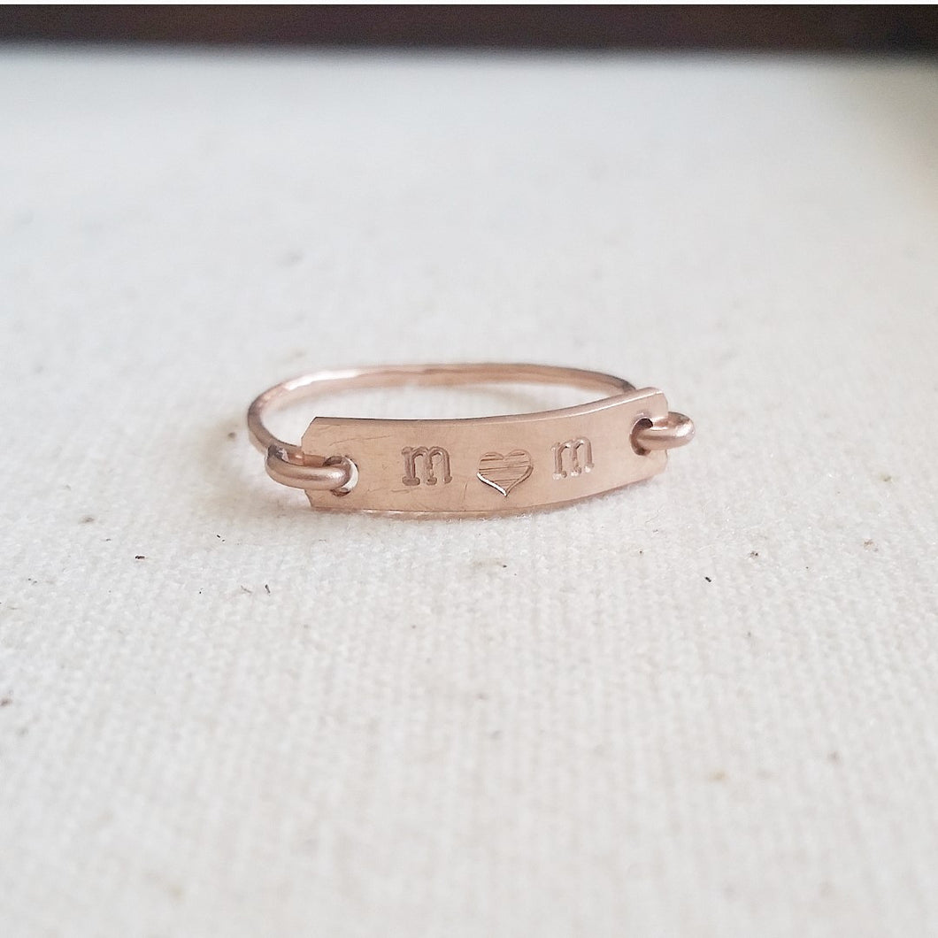 Personalized Bar Ring