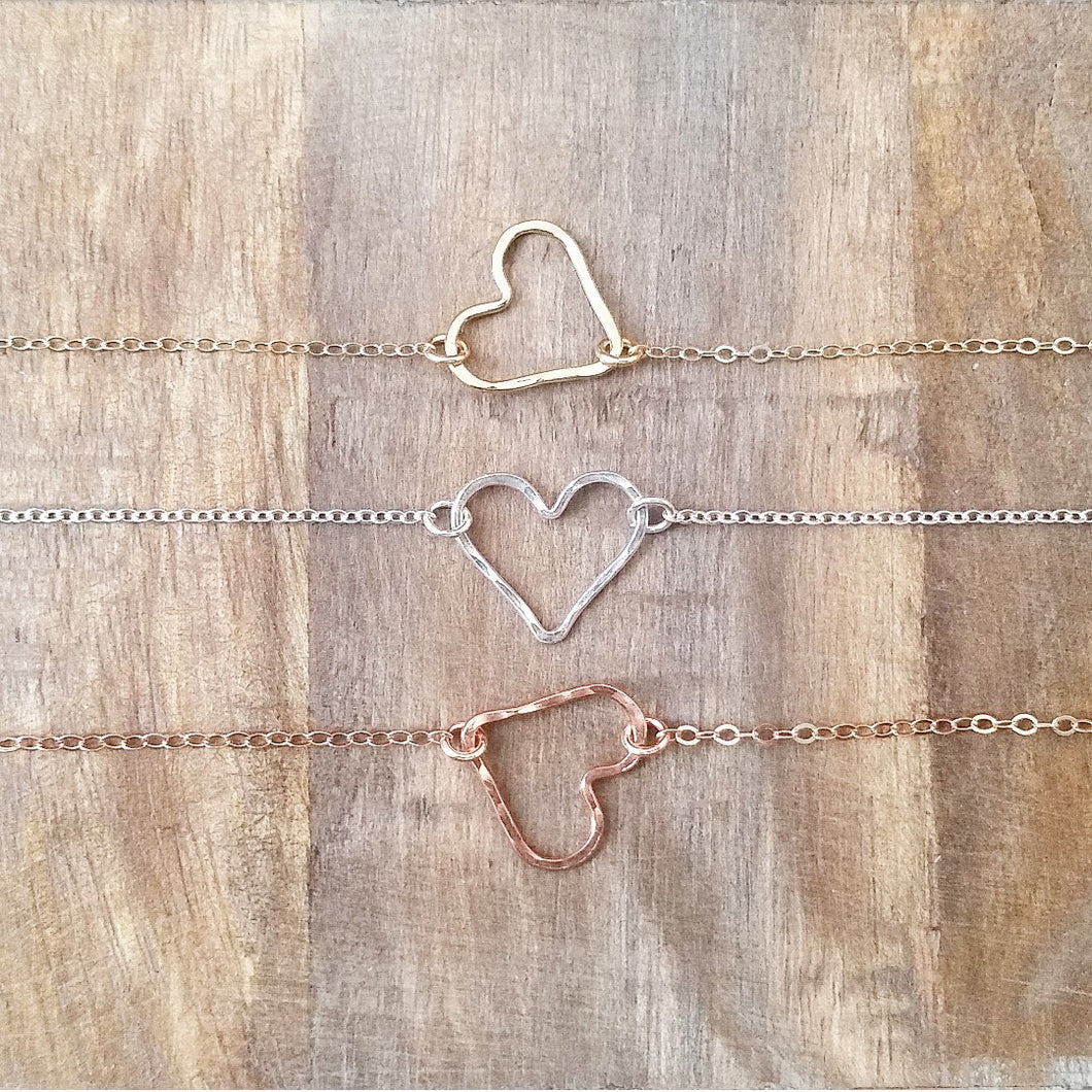 Open Heart Necklace / Bracelet