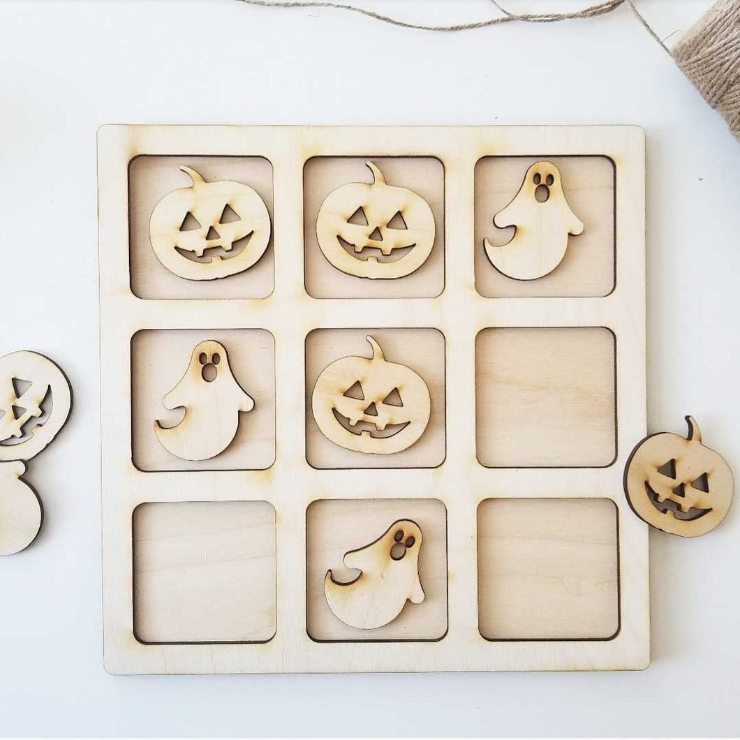 Tic Tac Toe - Pumpkin & Ghost
