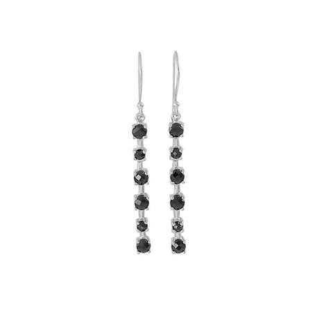 Nicole Fendel Aurelia Organic Earrings - Silver & Onyx
