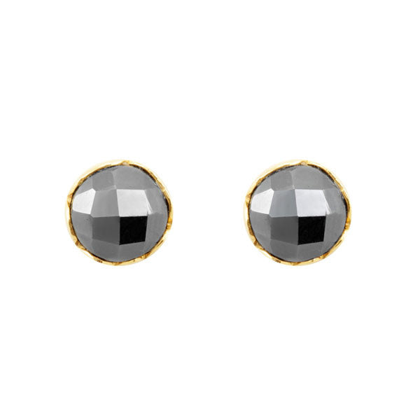 Nicole Fendel Aurora Stud Earrings Gold & Hematite