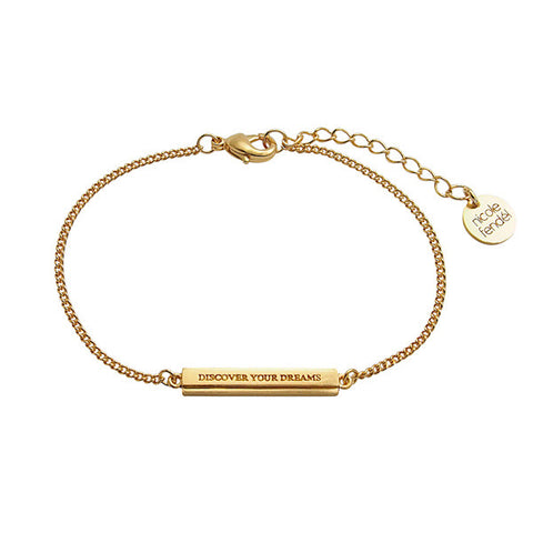 Nicole Fendel Gold Discover Your Dreams Small Bracelet