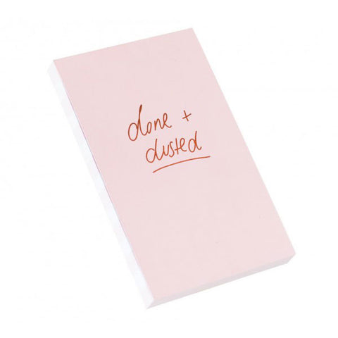 Blushing Confetti Notepad - Done + Dusted