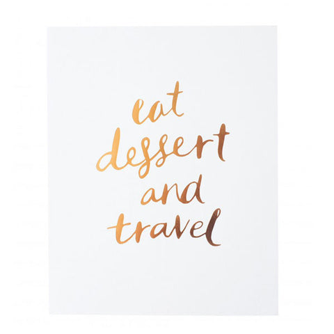 Blushing Confetti Print - Eat Dessert + Travel