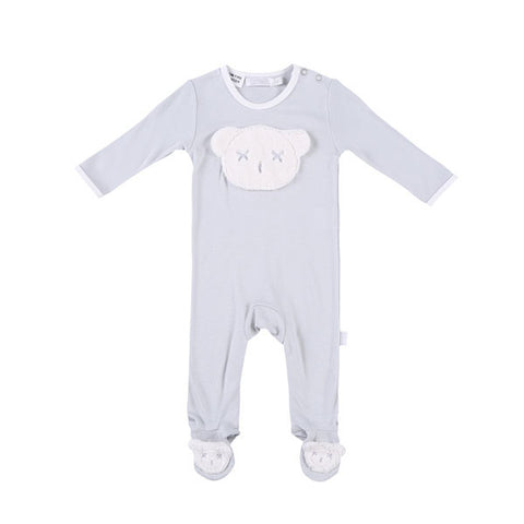 Britt Bear Head Body Suit - Grey