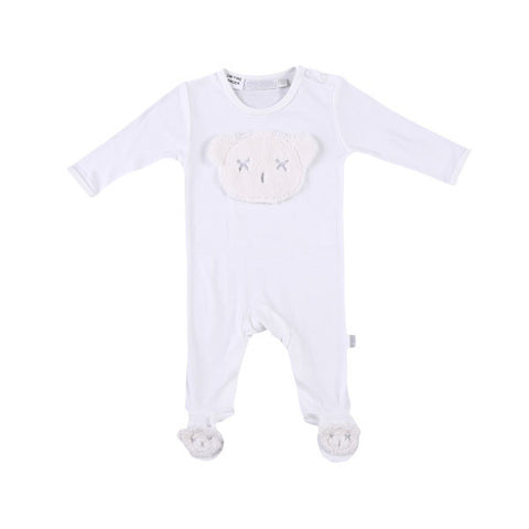 Britt Bear Head Body Suit - White