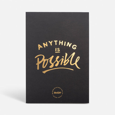 Blacklist Anything is Possible Desk Notepad