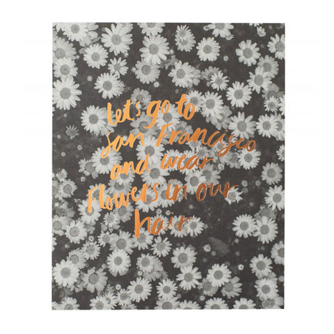 Blushing Confetti Print - Let's go to San Francisco