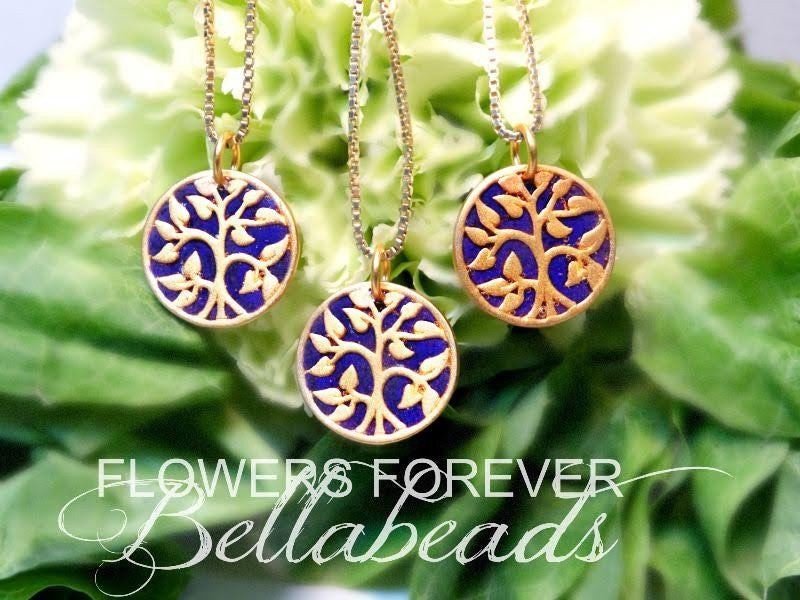 Memorial Flower Forever Necklaces
