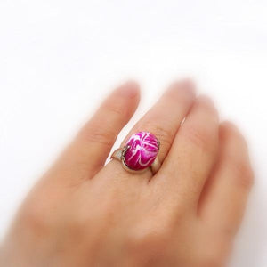 Flower Petal Bead Rings Jewelry