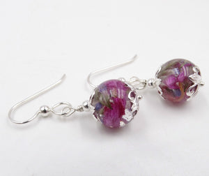 Earrings - Flower Petal, Memorial, and Cremation Jewelry