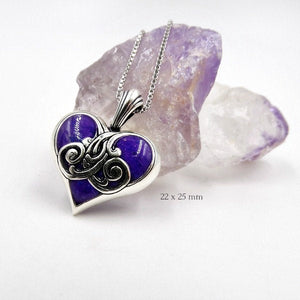Flower Petal Heart Pendants Jewelry