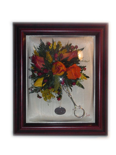 3 Freeze Dried Floral Arrangement Bubble Dome 8x10