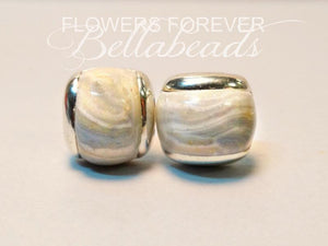 Memorial Jewelry Cufflinks made from Flower Petals, Inlay Cufflinks