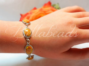 Memorial Jewelry Bracelet made from Flower Petals, Alexandra Collection