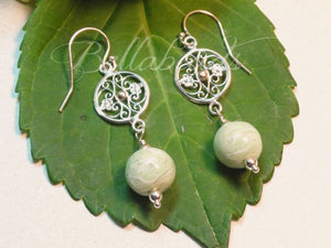 Flower Petal Jewelry, Gates of Charleston Earrings