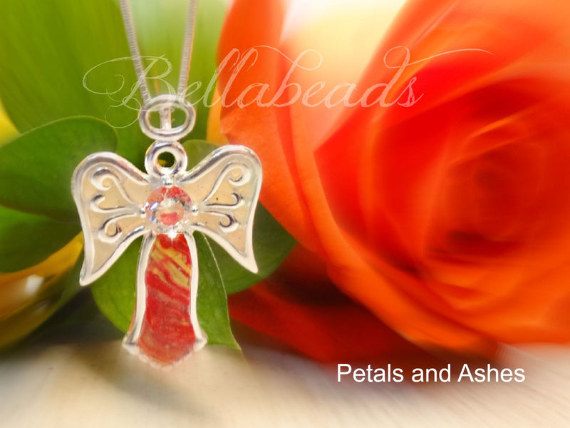 Flower Petal Jewelry, Memorial Jewelry, Angelica Pendant