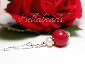 Flower Petal Jewelry, Pearls and Grace Pendant