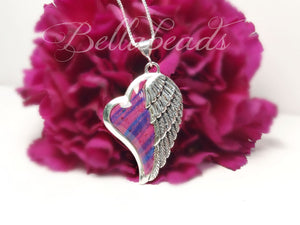 Flower Petal Jewelry, Heart of an Angel Pendant