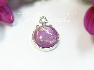 Memorial Jewelry made from Flower Petals, Vida  Pendant