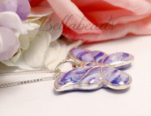 Memorial Jewelry made from Flower Petals, Butterfly Kisses Pendant