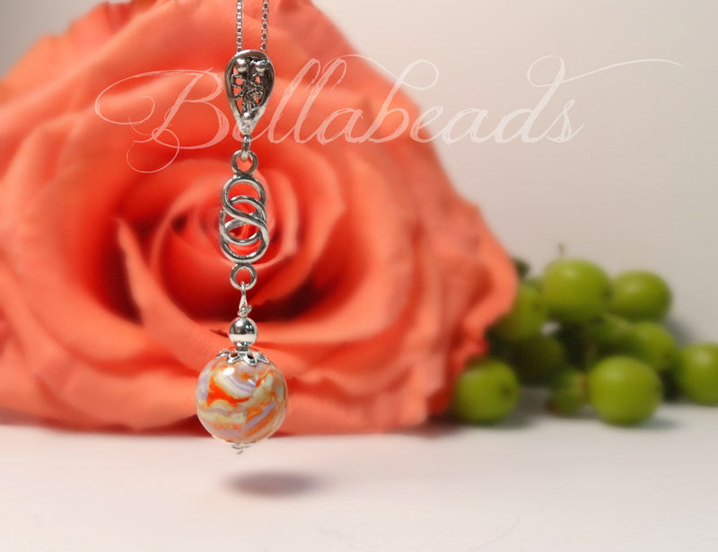 Flower Petal Jewelry, Love Knot Pendant