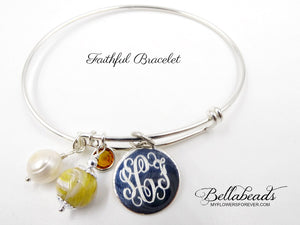 The Faithful Sterling Silver Bangle Bracelet