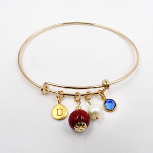 The Faithful Gold Plated Bangle Bracelet