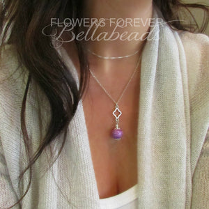 Memorial Jewelry made from Flower Petals, Jewelry Clover Necklace Pendant