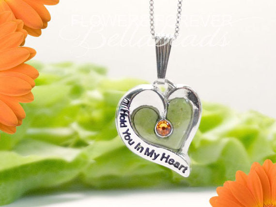 Flower Petal Jewelry, I'll Hold You in My Heart