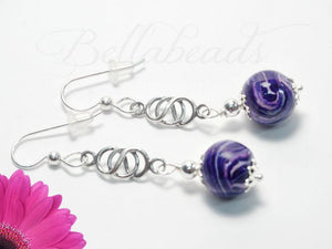 Flower Petal Jewelry, Love Knot Earrings