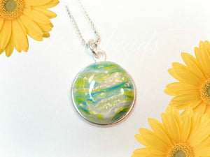 Memorial Jewelry made from Flower Petals, Jewelry Amelia Necklace Pendant