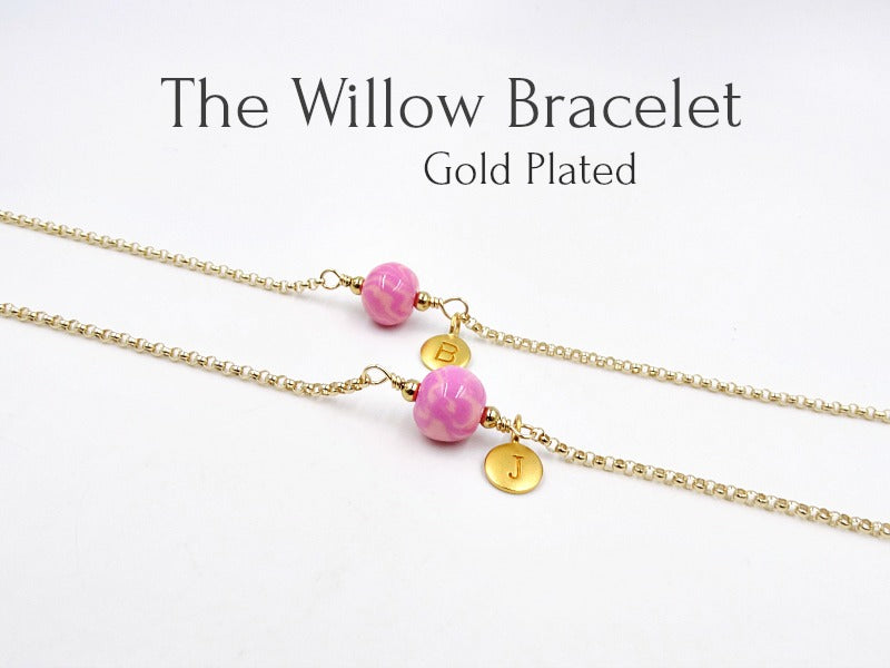 Willow Bracelet, Design Your Own, Gold Plated