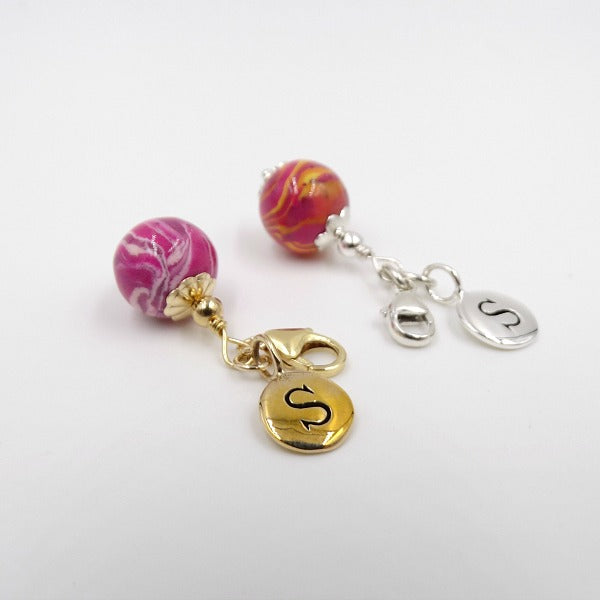 Small Bouquet Charm, 12mm, Sterling Silver or Gold Plated