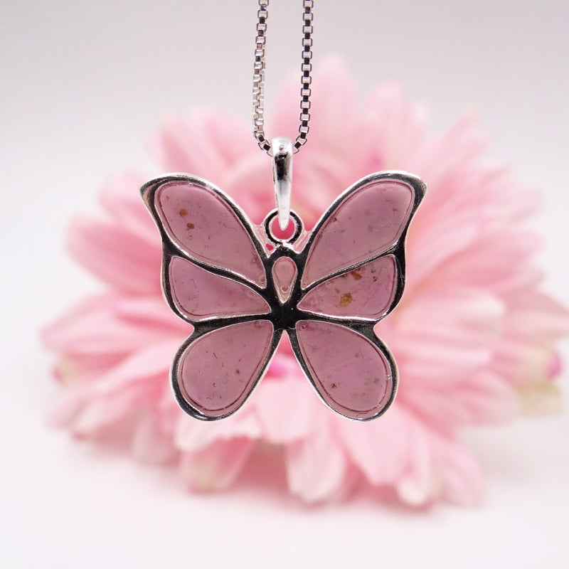 Flower petal butterfly, made with real flowers from a funeral or wedding