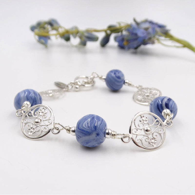 Gates of Charleston inspired bracelet made with flower petals