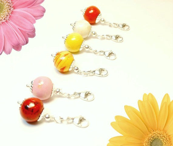Flower Petal Jewelry, Small Bouquet Charm, 12mm