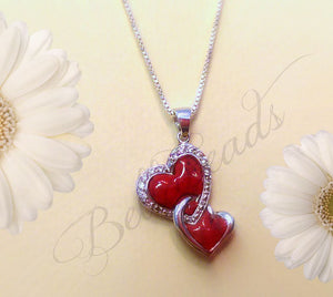 Flower Petal Jewelry, Keep Me in Your Heart Pendant