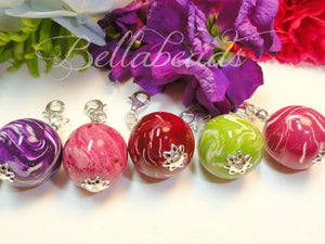 Flower Petal Jewelry, Large Bellabead Charm 22mm