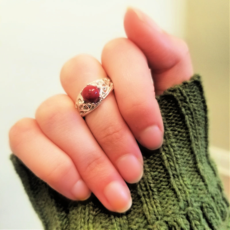 Handmade ring with real flowers from wedding or funeral.