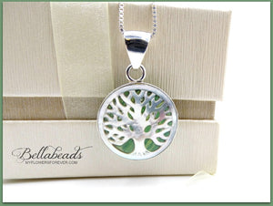 Mother of Pearl Tree of Life Pendant