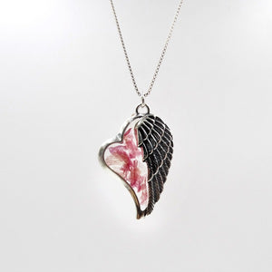 Resin Heart of an Angel Pendant