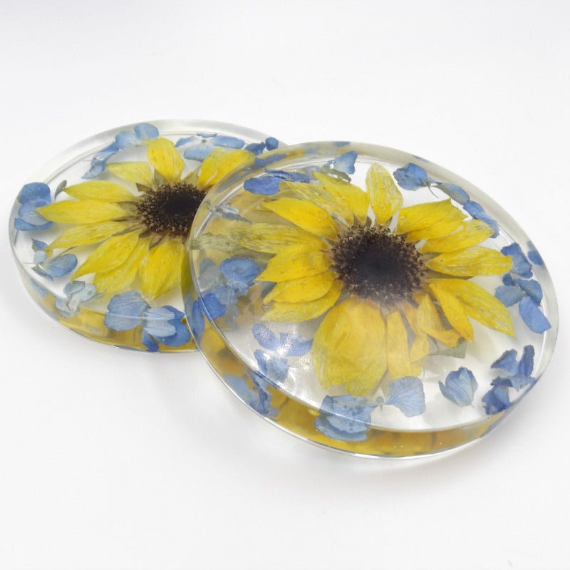 Flower Petal Resin Paperweight