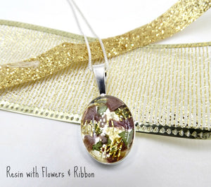 Resin Classic Oval Pendant